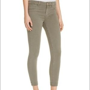 J BRAND Cuffed Sateen Jeans